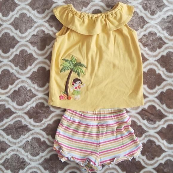 Gymboree Aloha Sunshine Shirt 4 8 10 Orange Plaid Tunic Top NEW Girls Summer